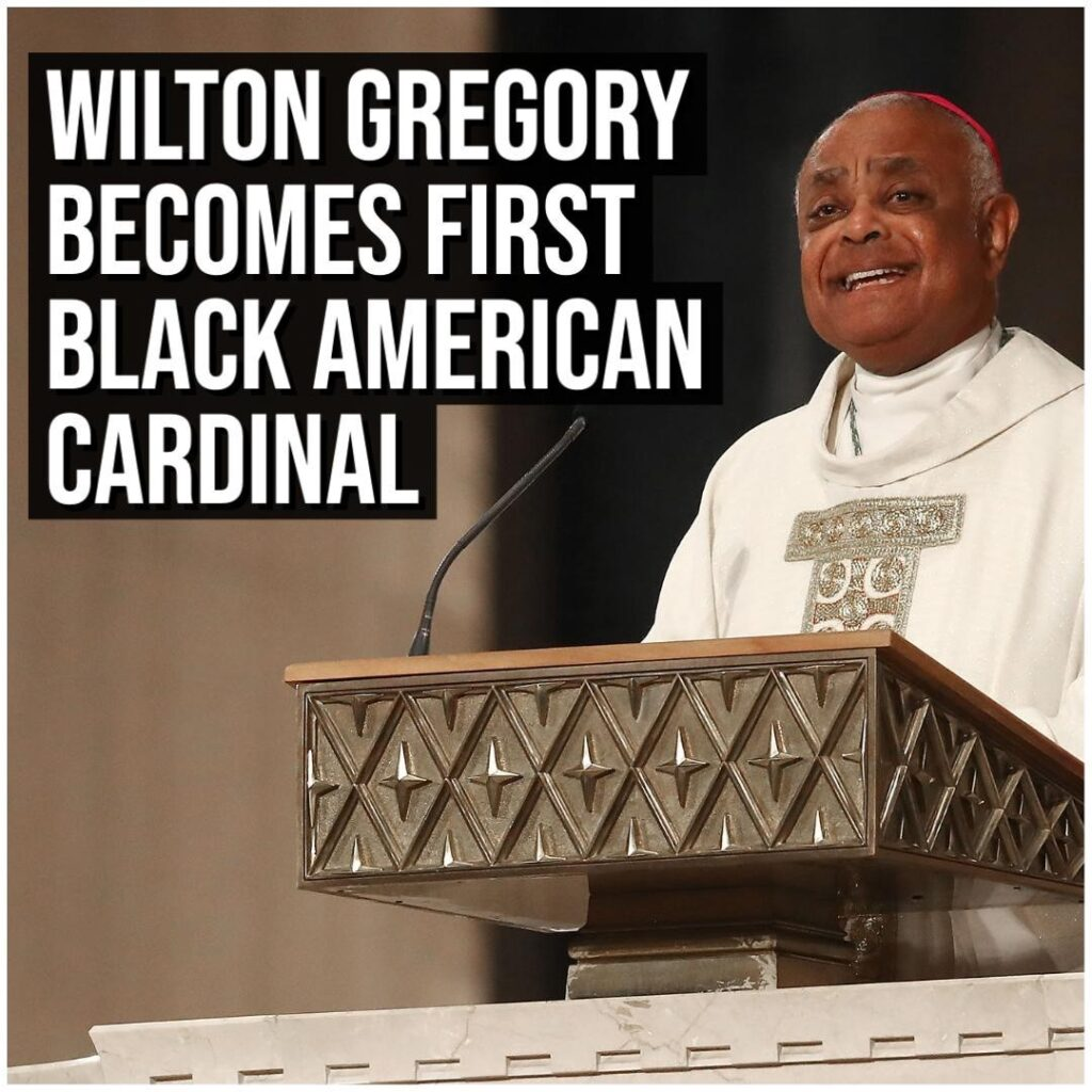 Wilton Gregory, the archbishop of Washington D.C., became the first African-Amer...