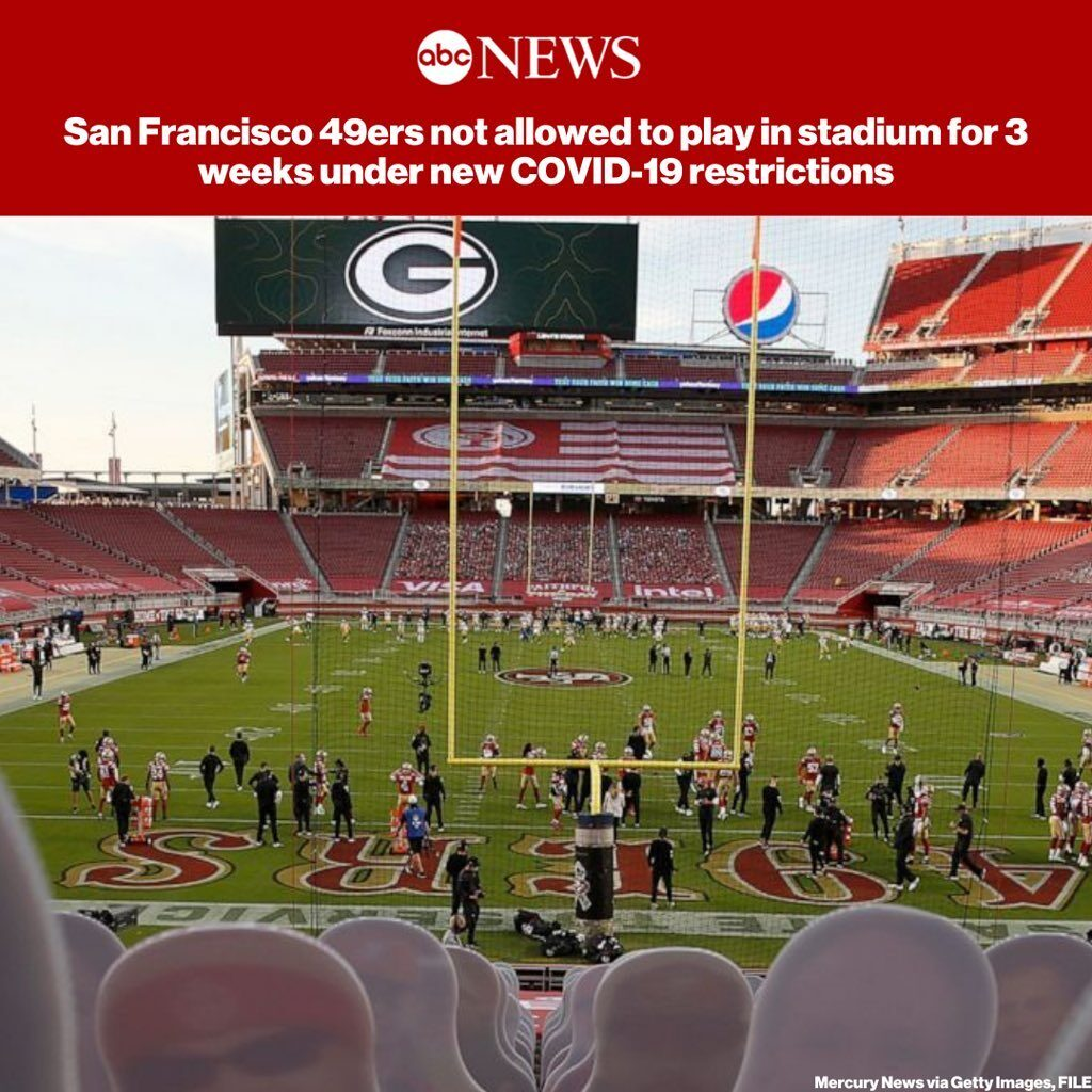 The San Francisco 49ers will not be allowed to practice or play in their stadium...