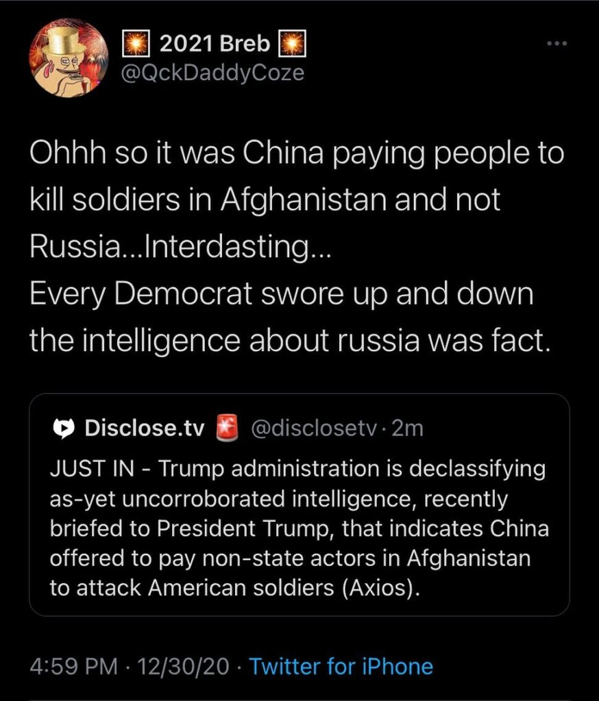 You don't say, so the CIA was lying about their intelligence it was about Russia...