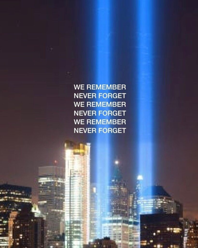 "We remember  9/11/2001⠀⠀ ""And God will wipe away every tear from their eyes; the..."