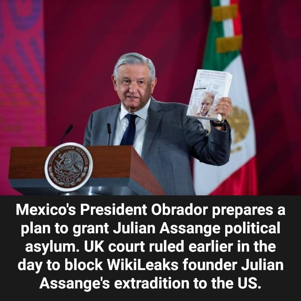 Mexico is ready to offer political asylum to Julian Assange and supports the dec...