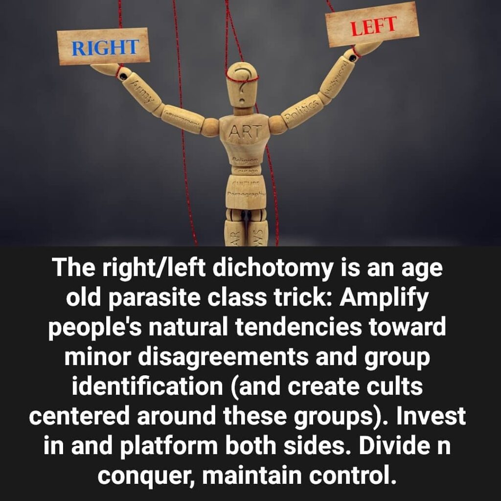Still too many buying into the Left-Right paradigm, believing that either side a...