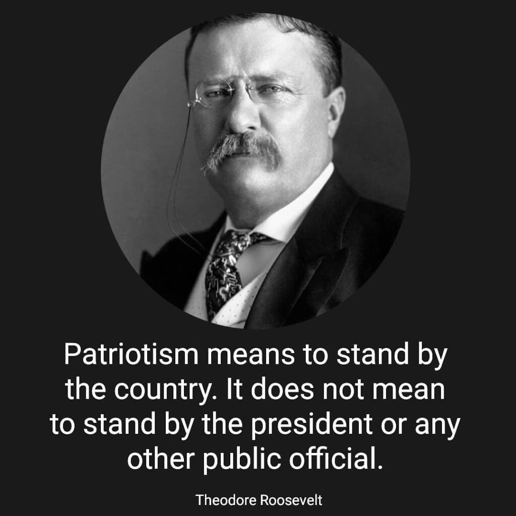 Patriotism means to stand by the country. It does not mean to stand by the presi...