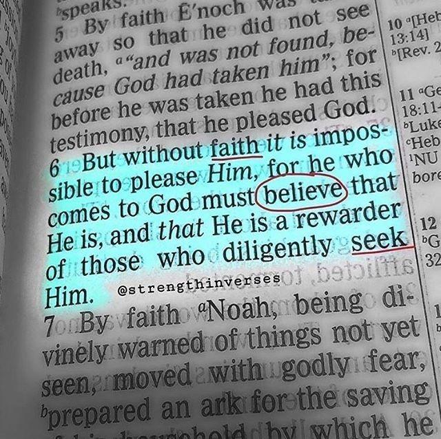 Amen to that!⠀ Hebrews 11:6...