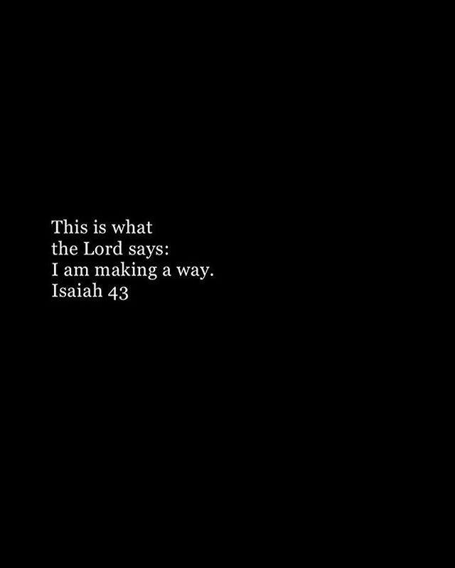 "Comment ""God makes a way"" ..."