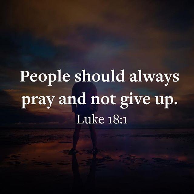 Keep on praying ...
