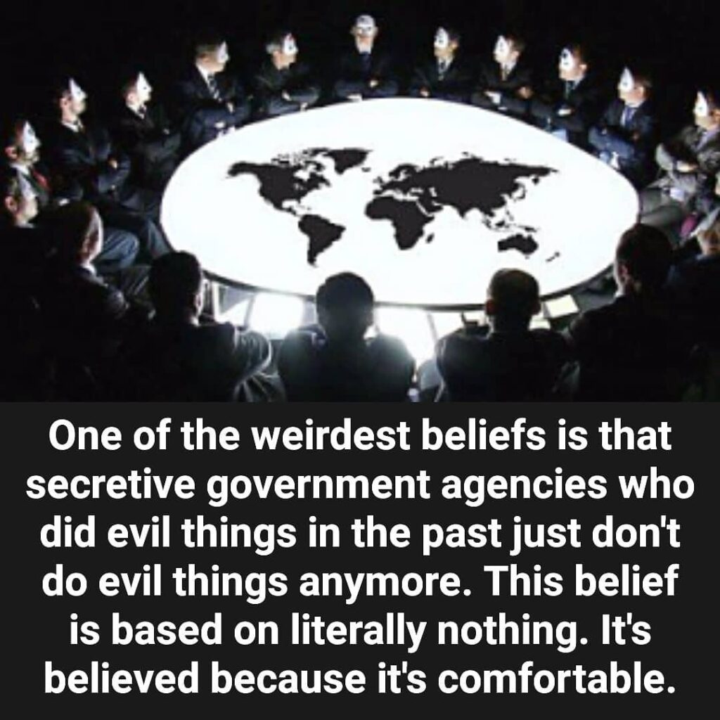 Humans are adept at lying to themselves in order to maintain an illusion of secu...