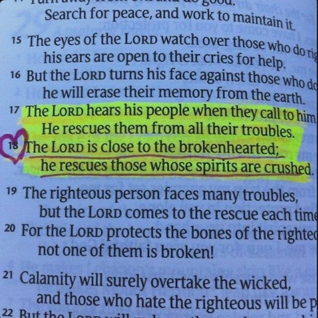 The LORD hears his people when they call to him for help. He rescues them from a...