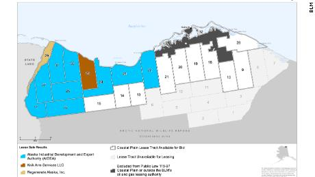 The Bureau of Land Management designated 22 tracts of land for drilling along Alaska's ANWR